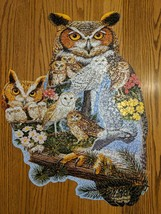 Bits and Pieces 750 Piece Shaped Puzzle The Watchers Owl by Artist Jack Williams - $7.38