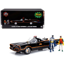 Classic TV Series Batmobile with Working Lights, and Diecast Batman and Robin Fi - $75.38