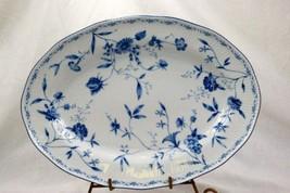 """Noritake 2001 Regis Blue #4235 14"""" Oval Platter - $23.55"""