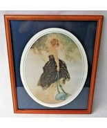 "French Art Deco print lithograph Louis Icart ""Le Bonnet bleu"" Parisian girl - $220.00"