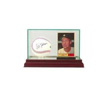 Perfect Cases Glass Card and Baseball Display Case with Mirror