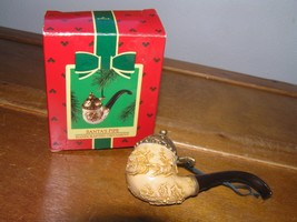 Vintage Hallmark Keepsake 1985 SANTA'S PIPE Christmas Tree Ornament in Box – 4.2 image 2