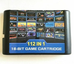 The latest 112 in 1 Game Cartridge 16 bit MD Game Card For Sega Mega - $20.99