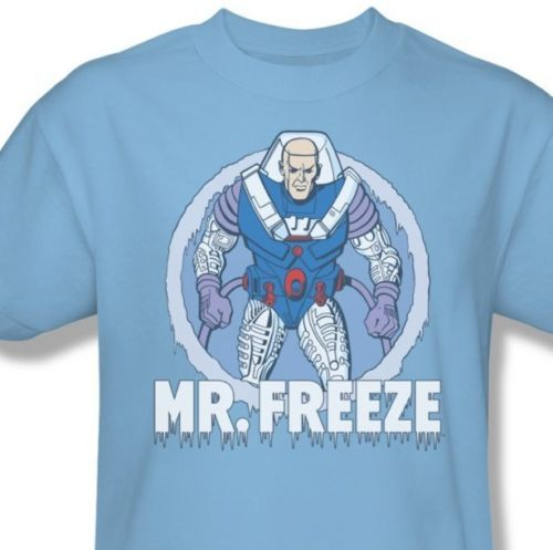 Mr freeze retro 80 s cartoon t shirt dc gotham batman graphic 1 tee  dco321