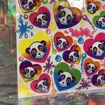 SALE⚡️S162  Lisa Frank Painter Panda Hearts Paint Splatter Sticker Sheet Full image 2