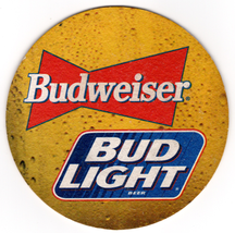 Cardboard Coaster (1)Collectible Man Cave/Craft Budweiser Bud Light Beer... - $3.91