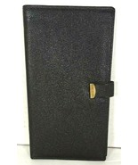 Travel Document Holder Slim Black Faux Leather  - $12.60
