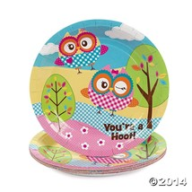 "Owl ""You're A Hoot"" 7"" Dessert Plates, 8 Pack - $8.15 CAD"