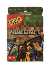 UNO Minecraft Card Game New 7+ Years 2-10 Players - $7.91