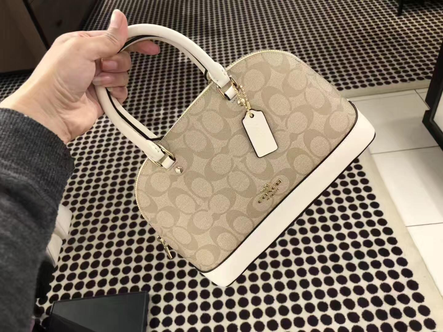 041be52cf5c7 57. 57. Previous. COACH F27583 MINI SIERRA SATCHEL in Crossgrain Leather  LIGHT KHAK women bag NEW · COACH F27583 MINI ...