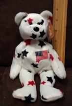 "Ty Original GLORY Stars & US Flag Bear 8.5"" Beanie Baby 1998 MWMT - $7.99"