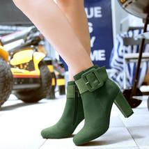 New Fashion Women Warm Boots Winter Women Boots Female High Heels Thick Heel Wom