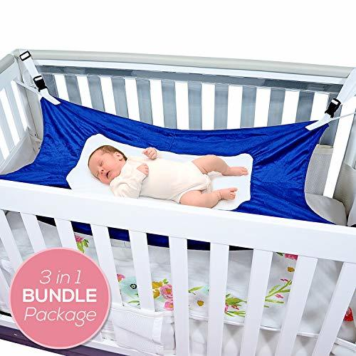Baby Hammock for Crib - Triple Layer Breathable Mesh Netting, [Best Bundle] with