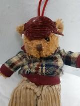 "6"" Russ Berrie Alpine Teddies Teddy Bear Christmas Ornament Adorable Outfit - $5.94"