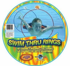 Swim Thru Rings Water Sports Kids Fun Summer Pool Training Learning Ring... - $29.50