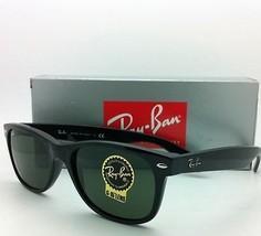 New RAY-BAN Sunglasses RB 2132 901 58-18 NEW WAYFARER Black Frames w/G-15 Lenses