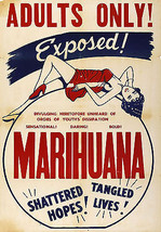 1930's Vintage Marihuana Marijuana Poster Adults Only Movie Propaganda A... - $13.00+