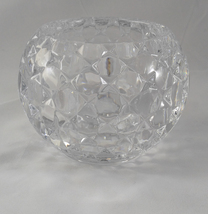 Shannon Designs of Ireland Irish Lead Crystal Quilted Rose Bowl Candle Holder - $39.99