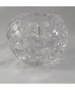 Shannon Designs of Ireland Irish Lead Crystal Quilted Rose Bowl Candle H... - $39.99