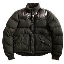 RALPH LAUREN Black Label Down Jacket Outer Coat Men's M Black Leather Sheepskin - $779.00