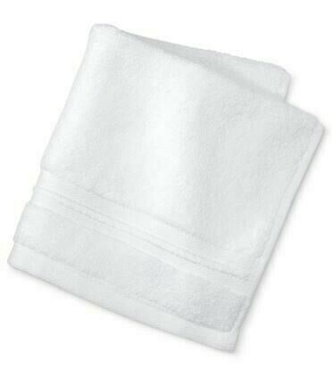 Fieldcrest Microcotton Spa 100% Cotton Washcloth with White Embroidery