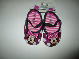 Disney Baby Girl's Casual Minnie Polka Dot Sparkly Crib Shoes - Size 2 - $8.00