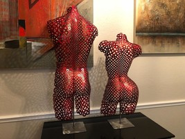 Abstract Metal Art Metal Torso Red Sculpture Nude Home decor Garden Holl... - $698.00