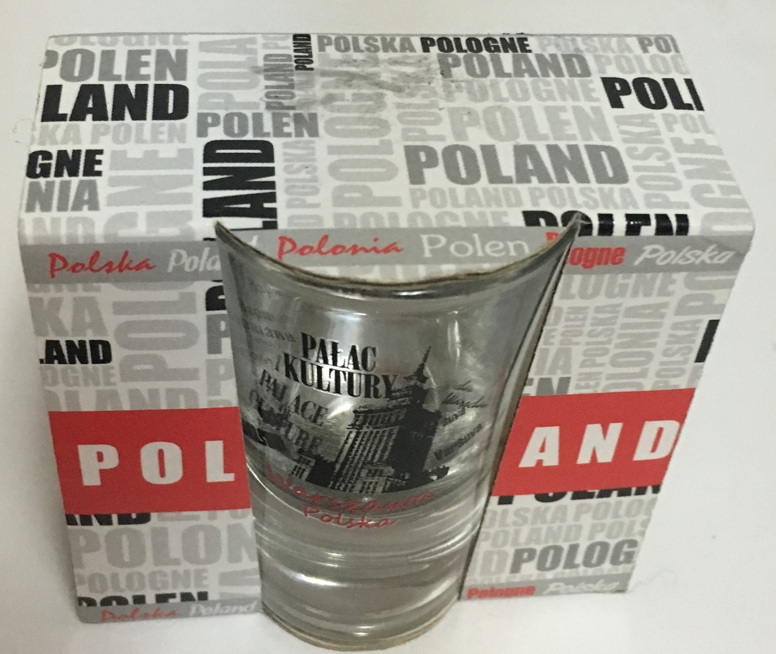 Poland Palace of Culture Shot Glass New in Box