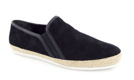 New VINCE Size 11 ACKER Blacck Suede Slip Ons Sneakers Shoes 41 - $109.00