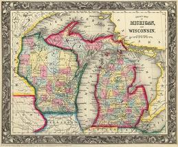 Countymapofmichiganandwisconsin 1860 mappostersmall thumb200
