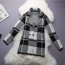 Checkered Oversized Cardigan For Women - $29.99