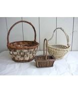 Shabby Chic Vintage Handmade Basket Lot - $10.00