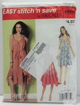 McCalls Sewing Pattern 9310 Misses Summer Sundress Size XSM-MED - $10.69