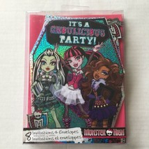 Monster High Birthday Party Invitations Deluxe (8 Pack) - $8.32