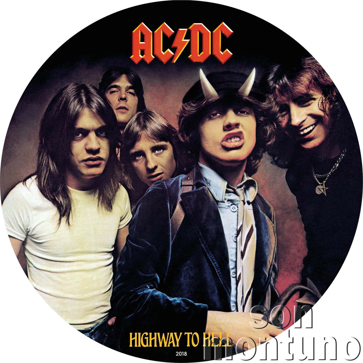 Primary image for HIGHWAY TO HELL - AC/DC Record Album Shaped Silver Note - 2018 Cook Islands $2