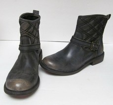 "LUCKY BRAND ""NORDIC"" BOOTS ANKLE LEATHER DISTRESS LOOK OLIVE GREEN 5.5 M... - $79.95"