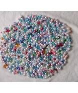 100pc. Mix Beads-Swarovski Crystal,Pearl,Lucite Acrylic Beads,Ponytail B... - $15.99