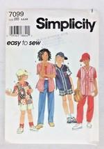 Vtg Shirt Pants Caps Kid's Sewing Pattern 1990s 5 6 6X Simplicity Easy U... - $6.97