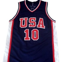 Kevin Garnett #10 Team USA Men Basketball Jersey Navy Blue Any Size image 1