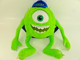 Disney Pixar Monsters University Mike Wazowski Plush Backpack Adjustable... - $23.64