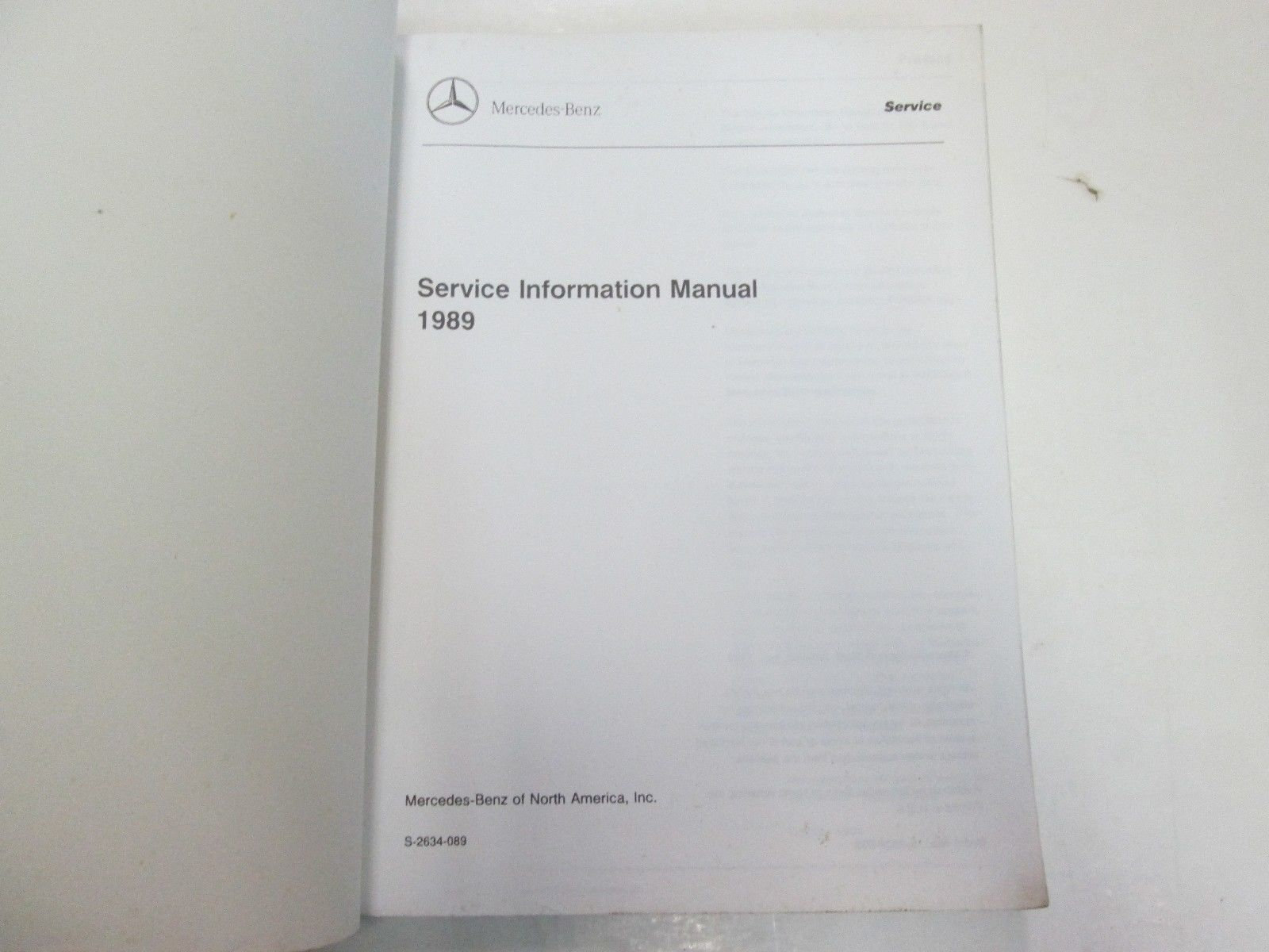 1989 Mercedes Benz Service Information And 36 Similar Items S Cl W126 300sd 1983 Fuse Box Diagram Manual Minor Wear Factory Oem Dealership