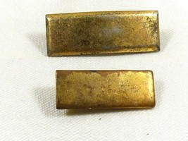 Antique Vintage lot of 2 Sterling Silver Gold plated Bar Pins Hallmarked small  - $39.60