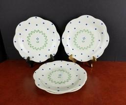 "set/4 salad/bread plates Pfaltzgraff Cloverhill 8.75"" dinnerware made in USA - $19.00"