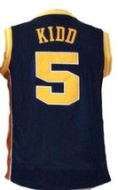 Jason Kidd #5 College Basketball Jersey New Sewn Navy Blue Any Size image 4