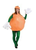 Orange Adult Costume Women Men Smock Food Fruit Halloween Party Unique P... - $67.99
