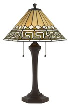 """Southwestern Earth Tones Mission Tiffany Table Lamp 26""""H - $279.99"""