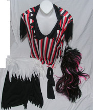 Women's Costume One Size Fits Most Pirate Outfit Wig Red Black Theater C... - $543,31 MXN