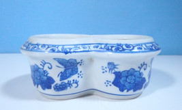 Chinese blue & white porcelain flower bonsai pot hand painted special sh... - $22.77