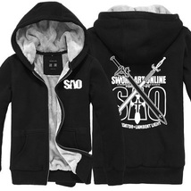 Sword Art Online SAO Kirigaya Kazuto Logo Long Sleeve Hoodies Coat  - $55.99+