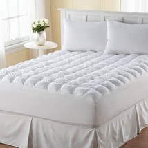 Pillow Top Mattress Topper Queen Size Bed Cover Protector Pad Comfort Be... - $80.18